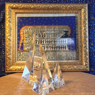 9-inch Energized Glass Crystal Pyramid